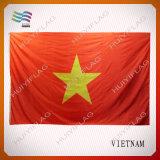Nationale Vlag van Vietnam van de Druk van de Polyester van de douane de Hangende (hynf-AF009)