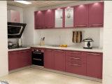 Gabinetes de cozinha elevados modernos norte-americanos do lustro com cor