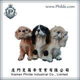 Polyresin 3 het Beeldje van het Ontwerp van Honden, Dierlijk Beeldhouwwerk, Dierlijke Beeldjes