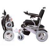Alliage d'aluminium pliant le fauteuil roulant de moteur électrique avec la batterie au lithium