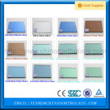 vidro matizado/manchado de 3mm-10mm de bronze/azul/cinza/verde