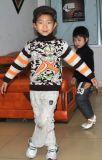 반대로 Pilling Boy&acutes 높 목 스웨터 자카드 직물 스웨터 (YBH-TZ02)