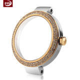 CNC Gold-Plated impermeável que termina a peça do relógio do aço inoxidável