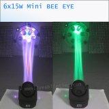 indicatore luminoso capo mobile del piccolo occhio dell'ape di 15wx6 RGBW