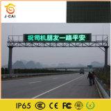 P10 al aire libre escogen la iluminación verde de la muestra de la información del LED