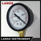 calibrador de presión inferior de acero del vacío del negro de la fábrica 051 de 63m m