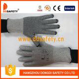Ddsafety grauer gestrickter Zwischenlage-Schnitt-Widerstand-Handschuh