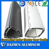 Profil en aluminium en aluminium d'extrusion de guichet de porte d'obturateur de roulement de rouleau de 6063 alliages