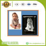macchina per incidere del laser del cristallo 3D/di vetro/foto