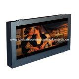 55 diseño completo TV al aire libre del recinto del metal del IP 65 impermeables de la pulgada