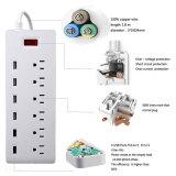 Surge Protector 6 Port Us Conector de enchufe de CA con 6 puertos Smart Fast USB Charger