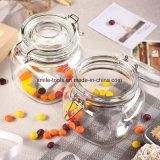 Frasco de vidro de Kilner do grampo do cereal ou da vela do armazenamento com tampa do fecho