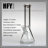 Vidro 9mm de Hfy tubulação arrebatada de fumo grossa grossa de Weed da venda por atacado do tabaco do cachimbo de água de Shisha de 12 '' tubulações de água