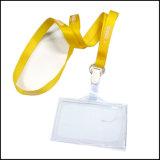 Retractable талреп держателя вьюрка значка карточки ясности Name/ID изготовленный на заказ для держателя значка (NLC017)