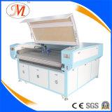 Cortador material del laser de la ropa con el sistema que introduce automático (JM-1610T-CCD-AT)