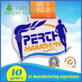 Médaille époxy personnalisée d'Ename de marathon de modèle de logo/de module de finition d'exécution/sport