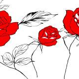 Het rode Roze Inkjet Afgedrukte Olieverfschilderij voor de Decoratie van het Huis
