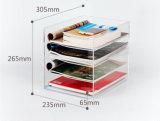 4 rangées effacent le présentoir acrylique de brochure