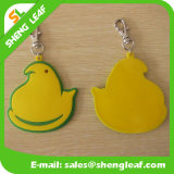 Chick Sample Keychain 100% Soft Rubber Metal Ring Chain