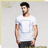 T-shirt occasionnel blanc d'impression fabriqué en Chine