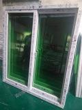 Серое окно цвета UPVC сползая