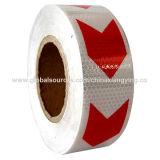 Flèche, rouge et blanc de PVC avec la taille différente de la bande r3fléchissante pour le véhicule