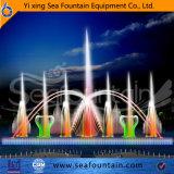 Música material de los multimedia del diseño Ss304 de Sesfountain que flota la fuente de la boquilla 3D