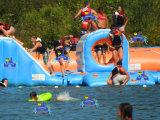 2017 новейший дизайн летом водных игрушек игры, надувные водный парк с плавающей запятой для озера (J-водный парк-02)