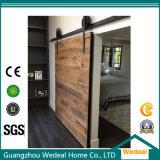 Puerta corrediza de madera/colgando puerta corredera para habitación de hotel