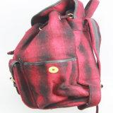 숙녀 형식 책가방, 형식은 패턴 직물 여자 책가방을 검사했다
