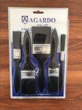 Insieme nero del pennello della setola con il servizio di plastica della Sudafrica della maniglia