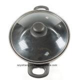 24cm de plata de acero al carbono antiadherente de la olla
