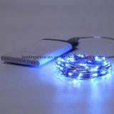 USB schielt 100 Seil-Licht-flexibler silberner Draht-wasserdichte große LED-33FT dünnerer für im Freiendekor an