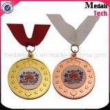 Medallas de encargo del Triathlon del hombre del hierro 3D del níquel antiguo
