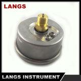 "070b calibrador de presión interno de cobre amarillo rodante del anillo de la fábrica 2.5 """