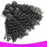 Rohes unverarbeitetes malaysisches Jungfrau-Haar-lockiges Haar