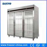 ステンレス鋼ガラス3のドアの直立した台所冷却装置