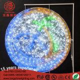Chritmasの装飾のためのカラーによって変更される220V蝶ランプLEDのモチーフライト
