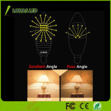 Luz de bulbo energy-saving da vela do diodo emissor de luz dos candelabros de E12 6W 7W