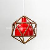 A iluminação de suspensão moderna decora a lâmpada industrial do pendente de Wood&Aluminum do estilo do vintage interior