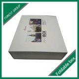 Caixa de presente branca do transporte do bloco liso