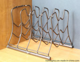 5 Reihe-Metalldraht-Zahnstange für Küchenbedarf-Bildschirmanzeige-Speicher-Regal