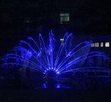 Nuova fontana di acqua di musica di figura del pavone dell'acciaio inossidabile