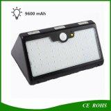 Nuovo indicatore luminoso solare del sensore di movimento dei 60 LED con la batteria di litio 9600mAh