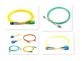 PC/Upc/APC Sc/LC/FC/St/Mu/MTRJ/E2000 단순한 이중 싱글모드 다중 상태 섬유 눈 접속 코드