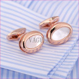 VAGULAの高品質は海のシェルのカフスボタンの母真珠のワイシャツのカフスボタン52306を平手打ちする