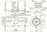 バスエアコンの遠心ブロア12V、350mm