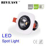 proyector cuadrado de la iluminación LED del negro LED Downlight LED de la MAZORCA de 10W Aliuminum