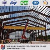 Entrepôt préfabriqué galvanisé de structure métallique avec le certificat de la CE