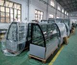 Bolo de aço inoxidável frigorífico vitrina de exposição com Compressor Embraco (KT770A-S2)